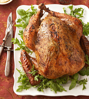 Turkey with Fresh-Herb Rubs