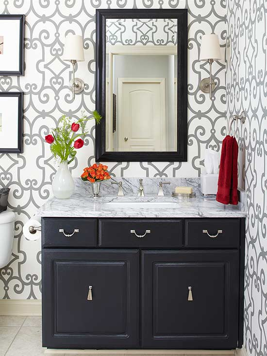 Painting bathroom cabinets for Bathroom cabinet paint ideas