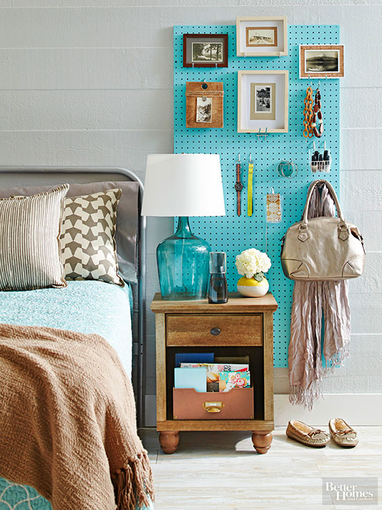 Functional Decor Ideas Pegboard Headboard