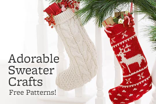 Adorable Sweater Crafts -- Free Patterns!