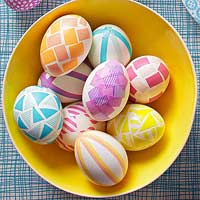Pretty No-Dye Easter Eggs