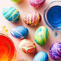Dyed Easter Eggs: 12+ Ideas