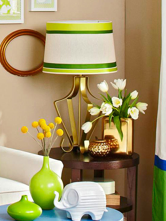 Be-Ribboned Lampshade