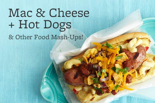 Mac & Cheese + Hot Dogs & Other Food Mash-Ups!