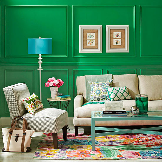 Living Room Scheme: Green Goddess
