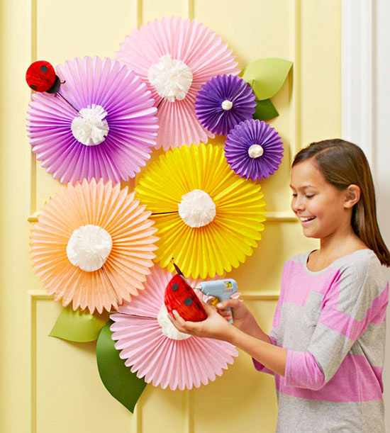 Cover Your Door with Paper Flowers