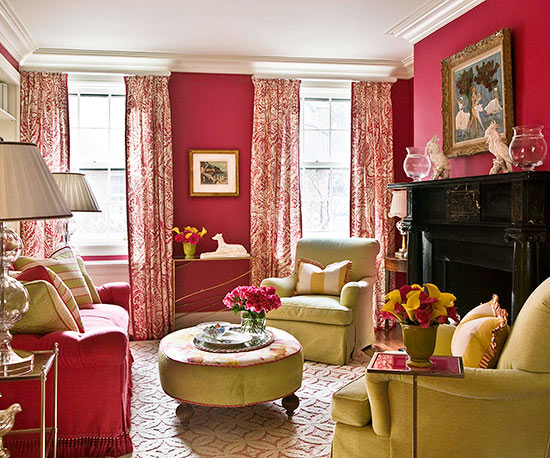 Rich Red Paint Turns Vibrant Pink With A Splash Of Clean White. Strong,  Saturated Red Wall Color Makes A Statement, So Go For A Softer Ivory Rather  Than ... Part 89