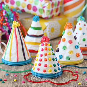 Birthday Party Hat Cakes