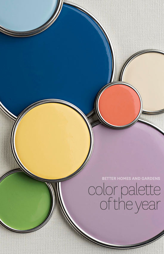 2014 palette of the year for Better home and garden design a room
