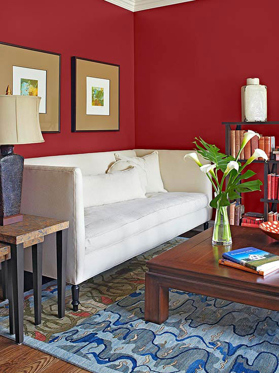 red paint colors. Black Bedroom Furniture Sets. Home Design Ideas