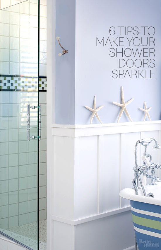How to keep glass shower doors from spotting