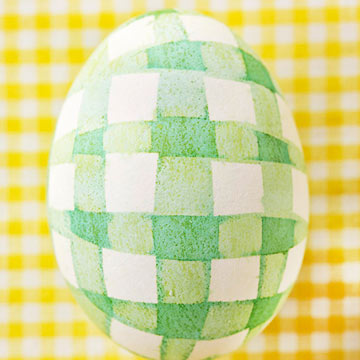Gingham Egg Pattern