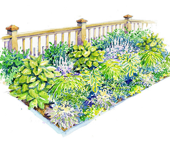 Better homes gardens shade garden plans home design and Better homes and gardens flower bed designs