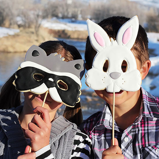 Animal Cookie Masks