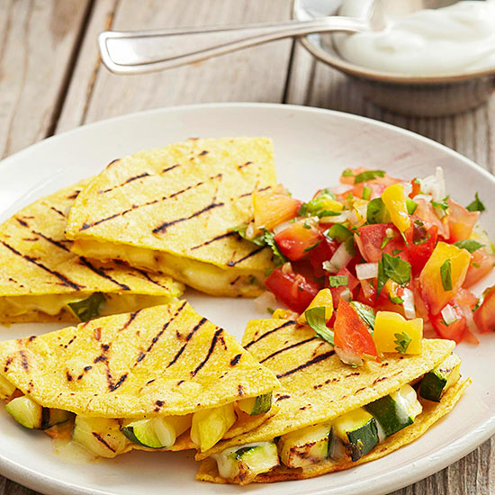 Grilled Squash and Manchego Quesadillas with Nectarine ...