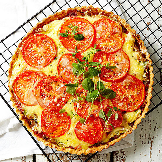 Three-Cheese Tomato Tart