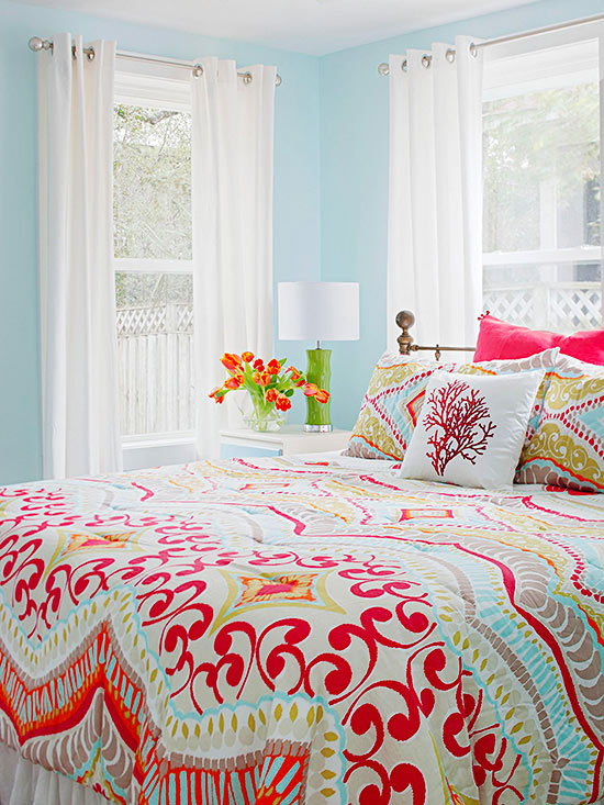 Colorful Bedrooms real-life colorful bedrooms - better homes and gardens - bhg