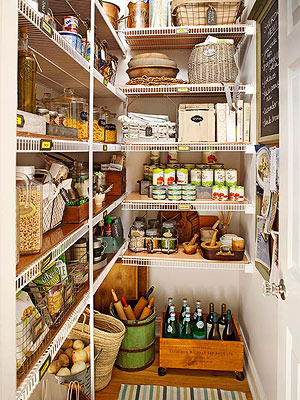 pretty flea market storage for pantries