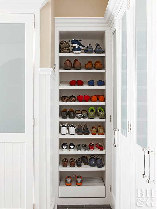 Shoes Are A Key Culprit For Tracking Dirt Into The Home Keep Your Mudroom And Surrounding Rooms Clean By Storing Them In Designated Closet Or Shoe Rack