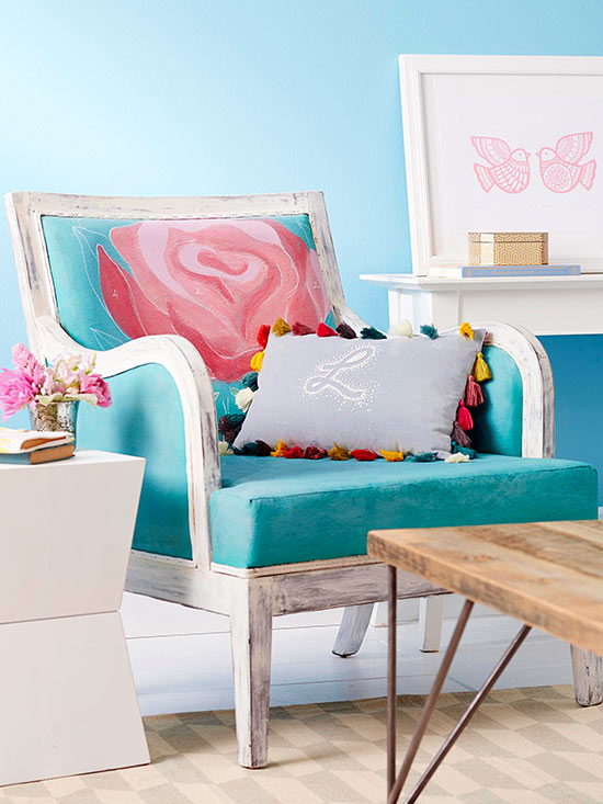 Revive Old Upholstery with Paint