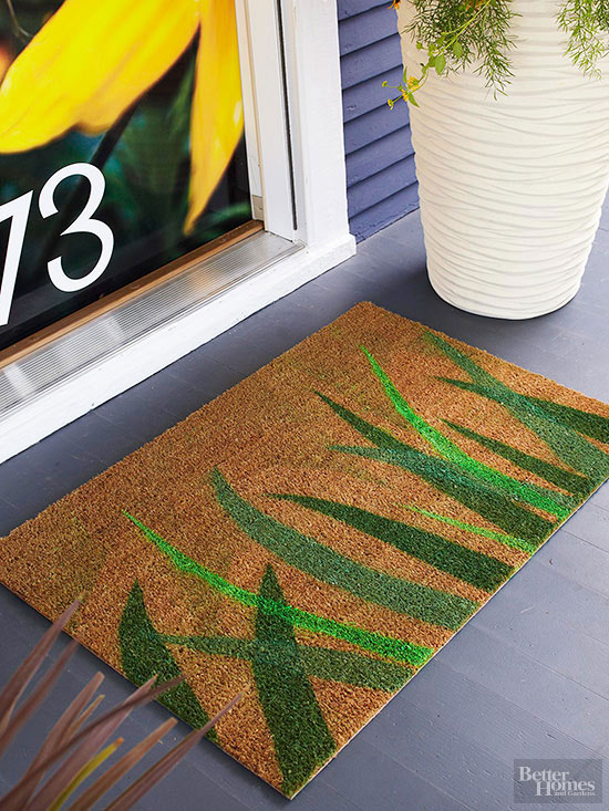 how to paint a doormat