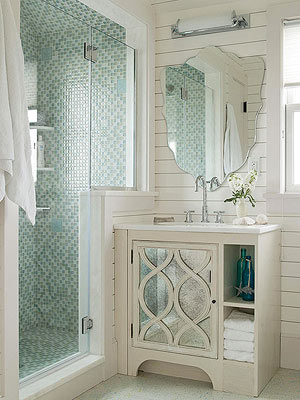 Painting Bathroom Tiles Better Homes And Gardens walk-in shower ideas