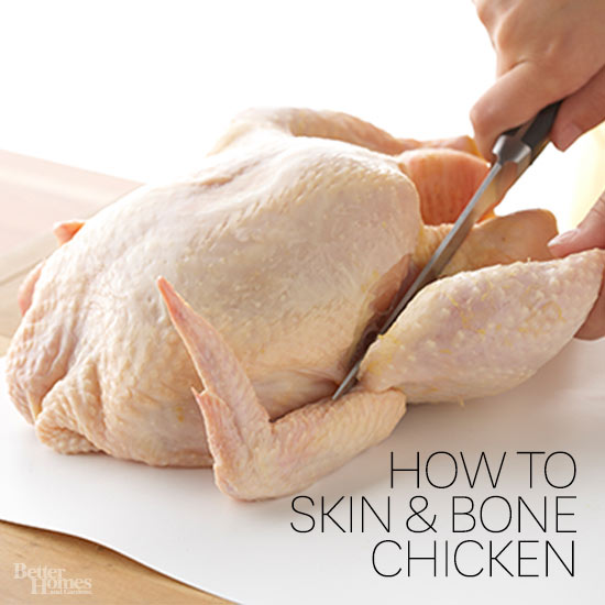 how to cut live chicken