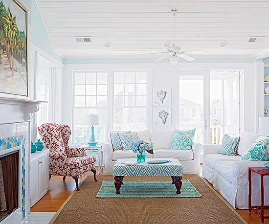 Living Room Color Scheme: Beachside Variation