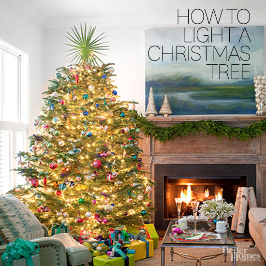 How To Hang Christmas Tree Lights From Better Homes And Gardens