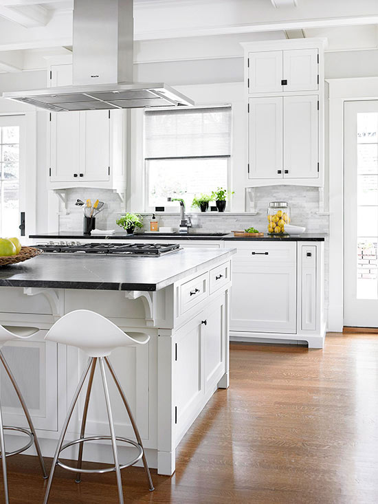In the center for Bhg kitchen design