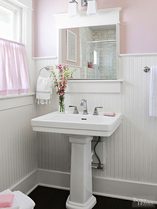 How much glam can you pack into a 35 square foot bathroom for Bathroom designs 7x6