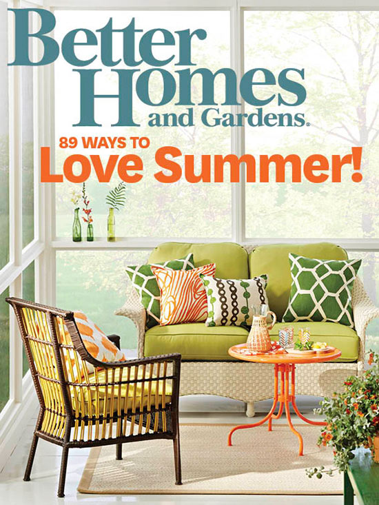 home and garden designs.  Better Homes and Gardens magazine