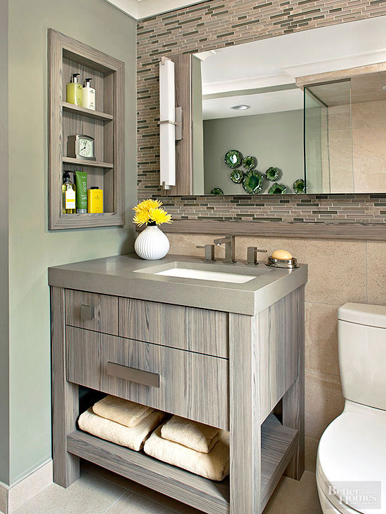 gorgeously grounded - Bathroom Cabinets Small Spaces