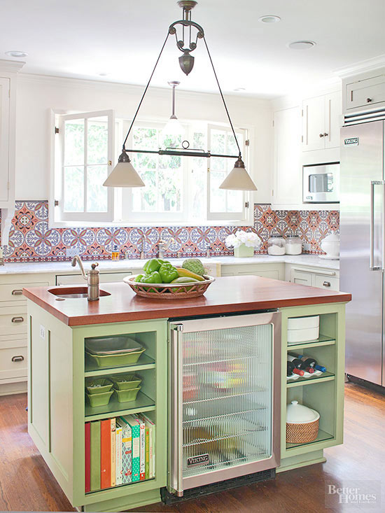 colorful kitchen islands better homes and gardens bhg com