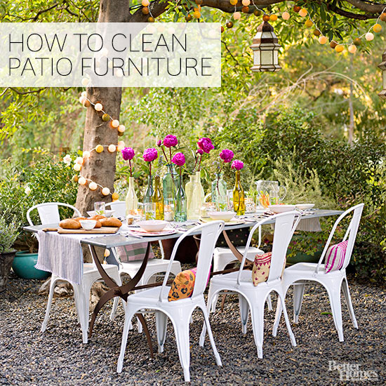 . How to Clean Outdoor Furniture
