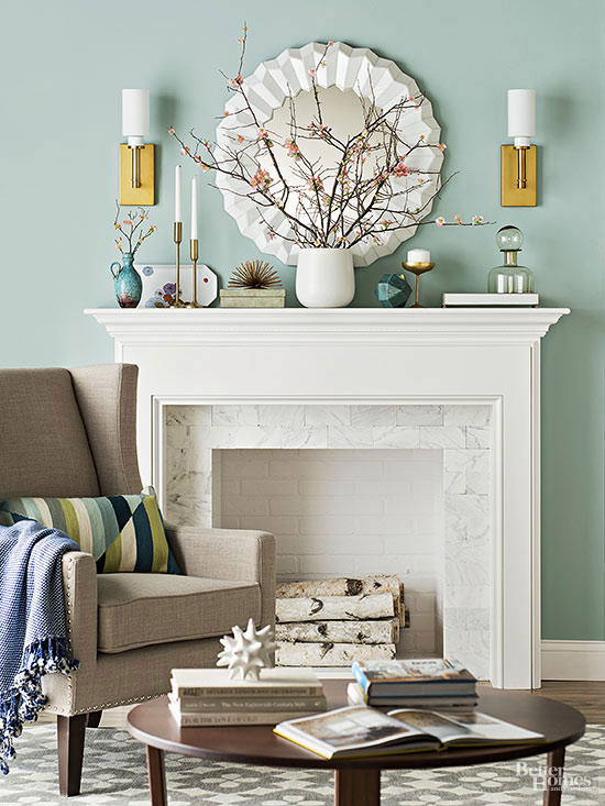 Living Room Color Scheme: Warm Blue