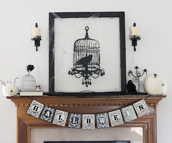 Easy Halloween Mantel Ideas