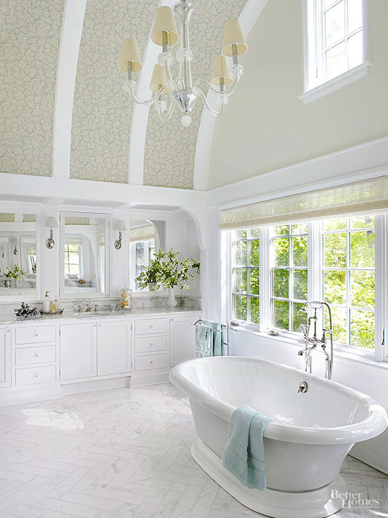 Dramatic Bathroom Architecture