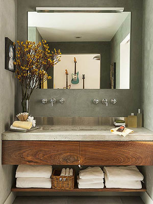 Bathrooms - Small bathroom sinks with cabinet for bathroom decor ideas