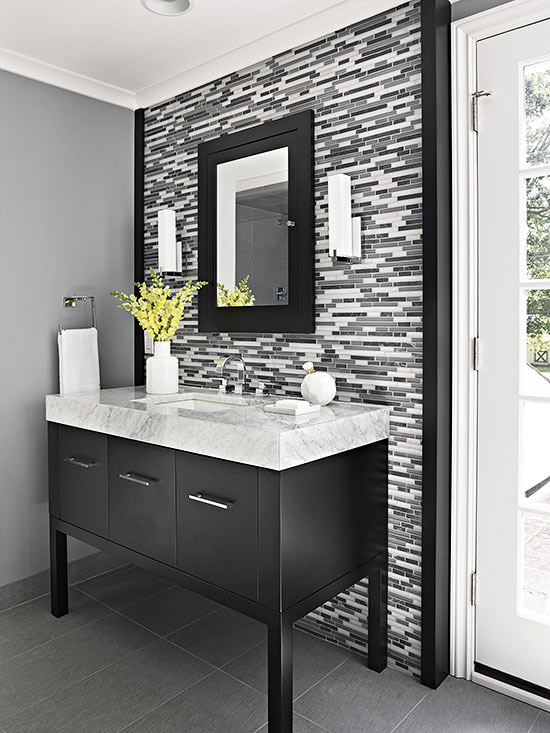 Single vanity design ideas for Single vanity bathroom ideas