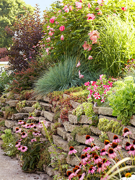 Garden Ideas Steep Bank tips for taming a slope