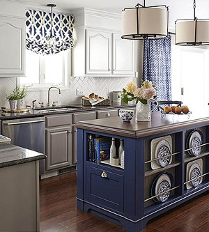 Kitchen Island Small contrasting kitchen islands