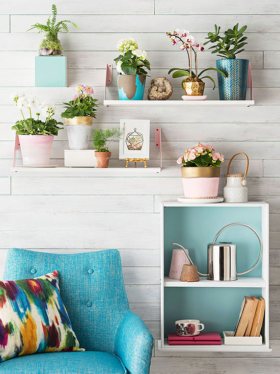 Home Decorating Craft Projects Part - 21: Shelf Pizzazz