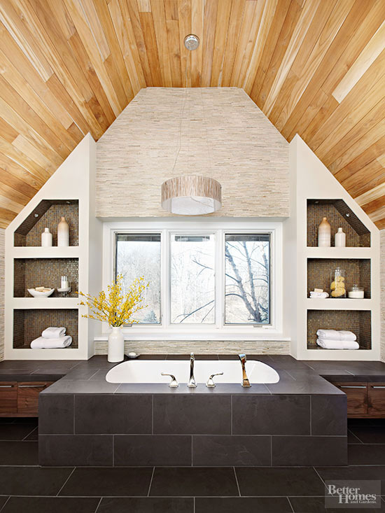 chocolate brown bathroom tile design ideas
