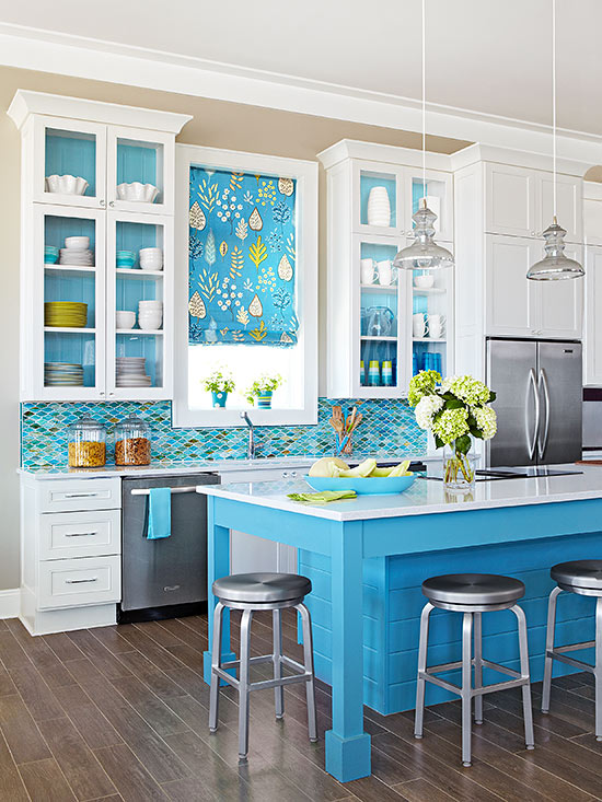 Ocean Paint Kitchen