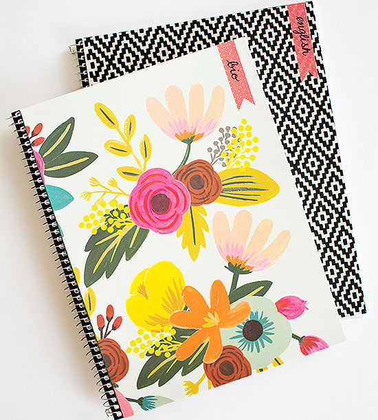 From Boring to Beautiful: Five DIY Notebooks with Style