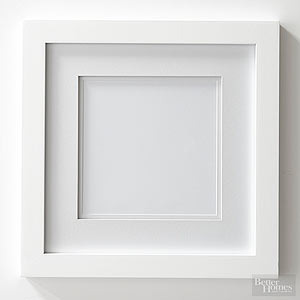 Make Cheap White Frames Look Custom