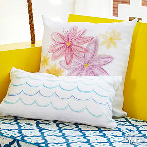 Pillow Painting Ideas: Painted Pillow Ideas,