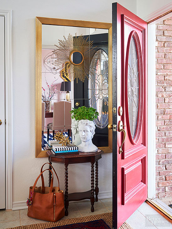 No entryway no problem here 39 s how to fake it - Small work space decor ...