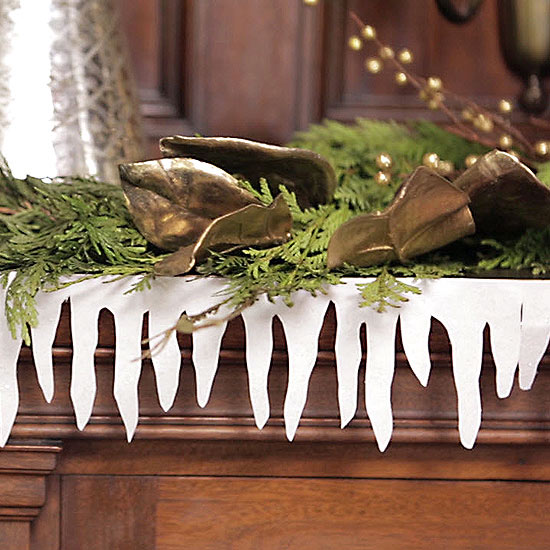How To Make A Paper Icicle Garland